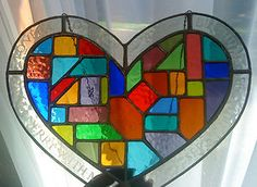 stained glass heart ♥♥♥♥ ❤ ❥❤ ❥❤ ❥♥♥♥♥