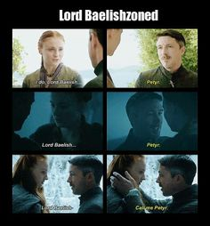 Lord Baelish, the petyrphile (yet somehow irresistible in other, less creepy contexts... I'll try to think of an example... lol)