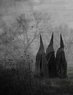 Witches. no info on this picture, can't be sure if it is truly old or a LARP. either way, the picture itself is beautifully composed.