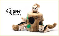 This adorable deal is for one Hide A Squirrel or one Hide A Bee puzzle toy! Brought to you by the innovative folks at Kyjen, this plush, lightweight interactive toy set comes with three squirrels or three bees and either a tree stump or beehive in which to hide the squeaker toys! You put the squeaker toys inside and the dog tries to take them out. The puzzle exercises your pup's natural instinct to search and strengthens his eye-paw coordination skills. $14