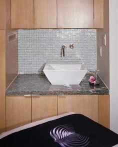 Wall tiles and granite top