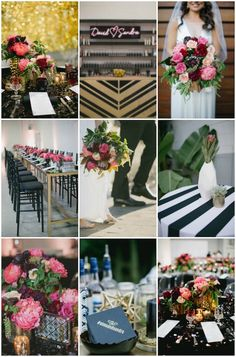 Black, White, Pink and Sparkle   Real Wedding   Aaron Young Photography   A Good Affair Wedding and Event Production   Bridal Musings Wedding Blog %0A