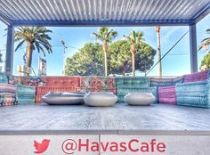 Great sofas at the #HavasCafe this year!