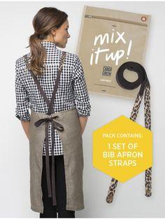 'Mix It Up' Apron Straps - Leopard Print