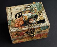 Steampunk Debutante altered Box by Elena Astafeva #graphic45