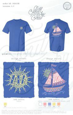 Zeta Tau Alpha   ZTA   Sailboat T-Shirt Design   Henna Sun T-Shirt Design   South by Sea   Greek Tee Shirts   Greek Tank Tops   Custom Apparel Design   Custom Greek Apparel   Sorority Tee Shirts   Sorority Tanks   Sorority Shirt Designs