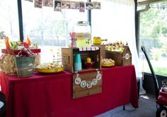Goes with the little red wagon birthday party. What a amazing idea.
