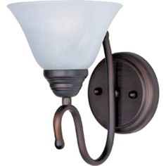 """View the Maxim 12066-LQ 1 Light 10"""" Tall Wall Sconce from the Newport Collection…"""