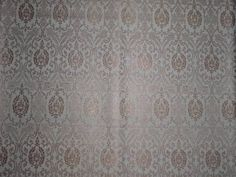 PURE SILK BROCADE FABRIC IVORY X GOLD COLOR