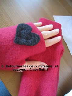 tuto mitaines en polaire Plus Diy Laine, Knit Mittens, Polar Fleece, Diy Projects To Try, Hand Knitting, Sewing Crafts, Diy And Crafts, Handmade, Gifts