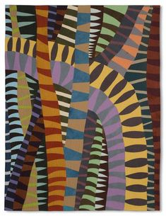 """""""Symbiotic Entanglement"""" by Valerie Maser-Flanagan. Art Quilts XVII- wow such shapes Textile Patterns, Textile Art, Print Patterns, Illustrations, Illustration Art, Art Africain, African Textiles, Contemporary Quilts, Aboriginal Art"""