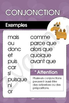 Conjonction - Exemples