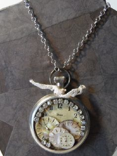 Not Enough Time Watch Face Necklace by sweetlyuniquebtq. Explore more products on http://sweetlyuniquebtq.etsy.com