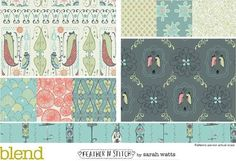 Blend, Feather n stitch by sarah watts - love the color paleets & those coral circle-y things on the left