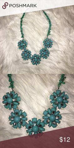 New York & Company turquoise statement necklace New York & Company statement necklace New York & Company Jewelry Necklaces