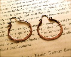 Copper Hoop Earrings with Silver Ear Wires by Jewelry Sweet Jewelry, via Flickr (by Christine Gierer)