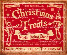 Candy Labels Christm