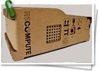 Un estudiante de la Universidad de Houston, Brenden Macaluso, consciente del impacto medioambiental de la basura electrónica, ideó este curioso ordenador eco-friendly de cartón corrugado. + info: http://www.barrameda.com.ar/dp/