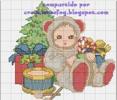 creaciones FOG: col bebés disfrazados punto de cruz (gráfico)