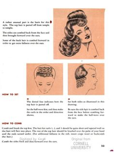 Types of pin curls … | retro hair styles | Pinterest
