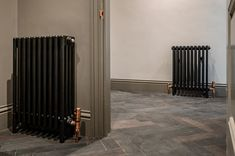 These matching Bisque radiators add a creative style to your living space. #columnradiators #schoolradiators #designerradiators #radiators