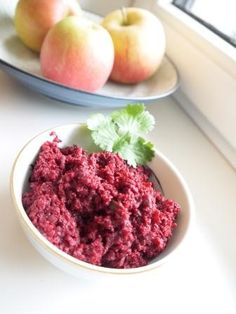 Beetroot Thuviyal - Beetroot Chutney: Perfect match with Turkey, Chicken, Fondue or - of course - any Indian Dish.
