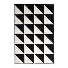 black and white triangle carpet at DuckDuckGo Ikea Rug, Medium Rugs, Big Rugs, Mellow Yellow, Cool Rooms, Rugs In Living Room, Bedroom Rugs, Boy Room, Home Furnishings