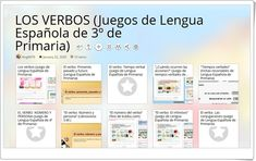 10 juegos sobre LOS VERBOS en 3º de Primaria Boarding Pass, Blog, Texts, Spanish Language, Teaching Resources, Note Cards, Learning, Blogging