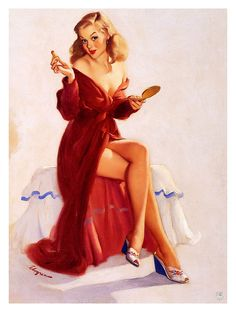 View This Doesnt Seem to Keep the Chap from My Lips by Gil Elvgren on artnet. Browse upcoming and past auction lots by Gil Elvgren. Pin Up Vintage, Retro Pin Up, Vintage Girls, Retro Vintage, Vintage Style, Retro Art, Vintage Beauty, Pinup Art, Gil Elvgren