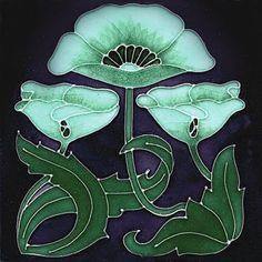 Reproducción de estilo Art Nouveau Baldosa Cerámica Decorativa 127