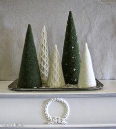 drzewka ze swetra