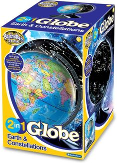 Brainstorm Toys 2 in 1 Globe Earth and Constellations. - #brainstorm #constellations #earth #globe - #LightSensor