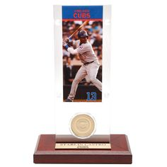 Starlin Castro Chicago Cubs Highland Mint Acrylic Player Ticket with Minted Coin - $22.79