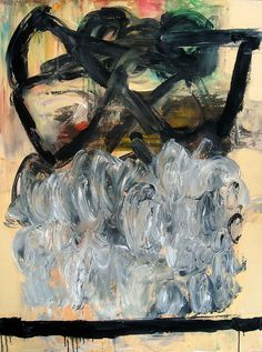 """Alan Taylor Jeffries - Thinking of You Not Thinking of Me, 48"""" x 36"""", Oil & oil stick on gallery canvas"""