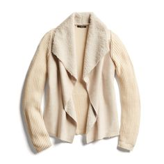 """""""Stitch Fix Fall Stylist Picks: Shearling knit jacket"""" Wonder if this comes in darker colors??"""