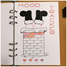 10 Mood Trackers for your Bullet Journal - it starts with a .- 10 Mood Trackers for your Bullet Journal – it starts with a coffee Zuckerstangen - Bullet Journal Tracker, Bullet Journal Page, Bullet Journal Mood Tracker Ideas, Bullet Journal Christmas, December Bullet Journal, Bullet Journal Notebook, Bullet Journal Themes, Bullet Journal Spread, Book And Coffee