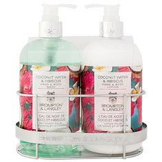 Upper Canada Soap Coconut Water Shower Caddy Set ($12) ❤ liked on Polyvore featuring beauty products and gift sets & kits