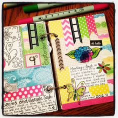 A homemade journal! I used to make something like this all the time. I need to get back into it. :)