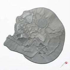 Reflective Skull Back Patch
