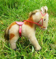 Steiff Pony with tack vintage