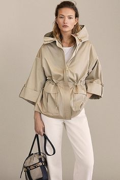 Cotton hooded parka - All About 2020 Fashion Trends, Fashion 2020, Athleisure Outfits, Hooded Parka, Outerwear Women, Raincoats For Women, Fashion Outfits, Womens Fashion, Fashion Top