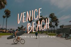Venice Beach Font by Kirsten Marie Design on Venice Beach, Beach Fonts, Creative Market Fonts, Adobe Software, Under Armour Herren, Sketch Notes, Symbol Logo, Typography Inspiration, Cool Fonts