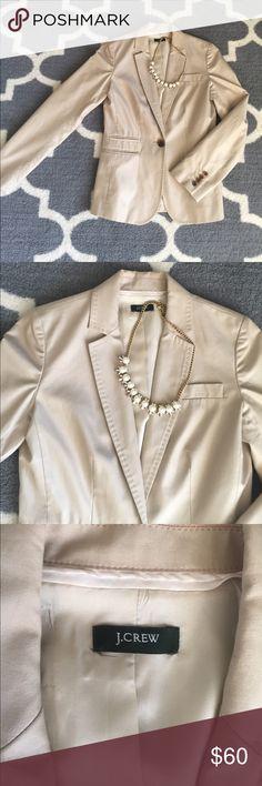J.Crew Khaki Color Blazer J. Crew Khaki Color Blazer  - Rarely Worn. Size 2. J. Crew Jackets & Coats Blazers