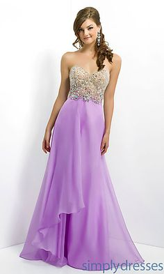 Blush Strapless Beaded Gown 9804 at SimplyDresses.com 189