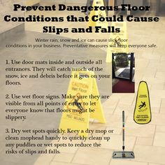 Prevent slips and falls during winter weather