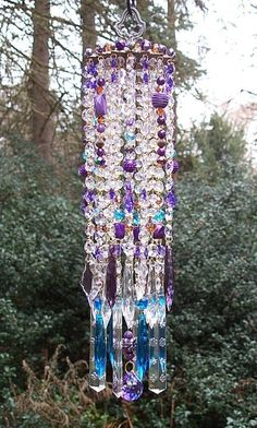 Ideas for yard art wind chimes Outdoor Art, Outdoor Decor, Crystal Wind Chimes, Glass Garden, Garden Crafts, Art Crafts, Boho Gypsy, Bohemian, Chandeliers