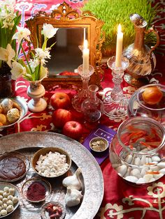 An Iranian-born food writer and team create and capture a New York-influenced Norooz feast. Iranian New Year, Iranian Art, Diy Furniture To Sell, Haft Seen, Ancient Persian, Persian Culture, Middle Eastern Recipes, A Table, Holidays
