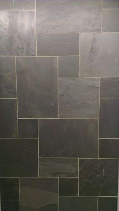 Black Riven Slate Floor Tile Modular Mix click now for info. Entry Tile, Tiled Hallway, Hallway Flooring, Garage Flooring, Best Tiles For Kitchen, Kitchen Tiles, Kitchen Flooring, Diy Kitchen, Kitchen Decor