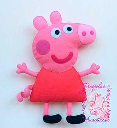 peppa pig george pig moldes para hacer en fieltro o foami Ideas de Manualidades