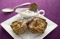 Grilled Artichokes With Roasted Garlic Sauce